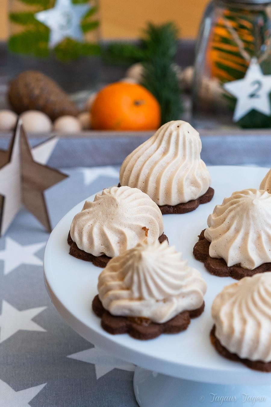 Wohin mit dem Eiweiß der Weihnachtsbäckerei? Feenküsse mit Toffifee