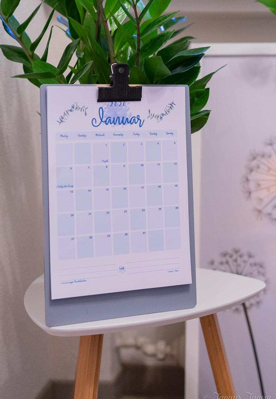 Freebie Kalender A4 download