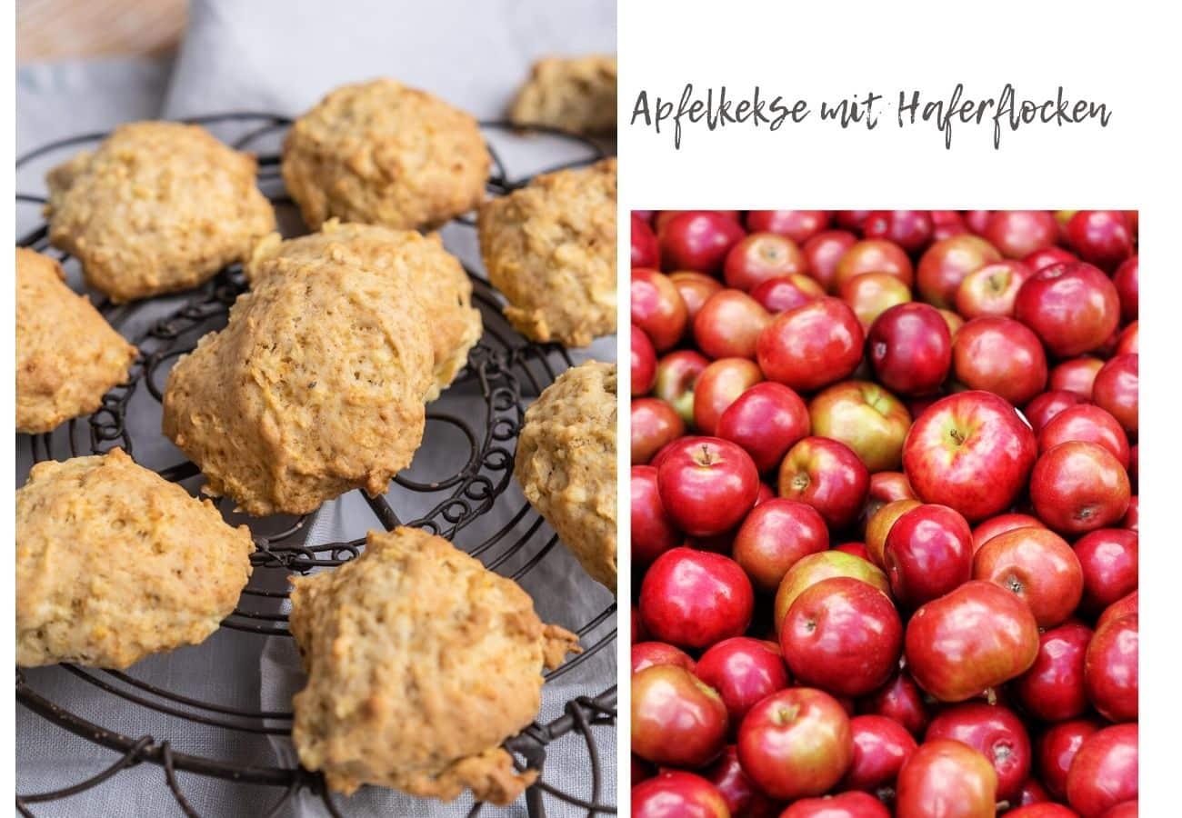 Apfelkekse mit Haferflocken