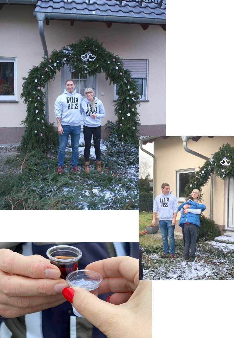 Winterhochzeit Kranz binden - Türkranz