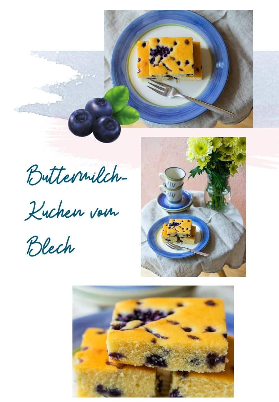 Buttermilch-Heidelbeer-Kuchen