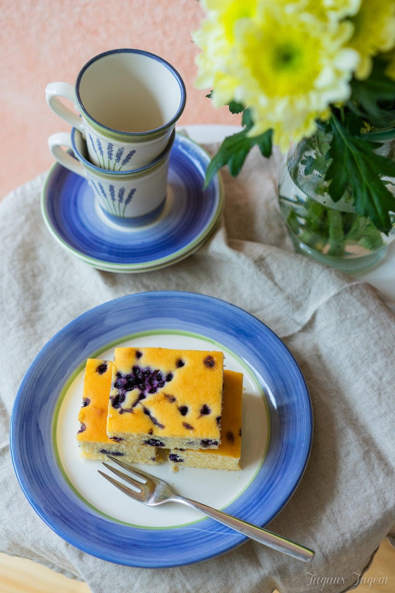 Saftiger Buttermilchkuchen mit Heidelbeeren vom Blech und ein paar Urlaubsimpressionen