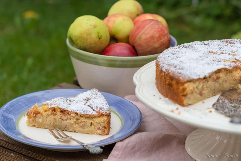 einfacher schneller Apfelkuchen