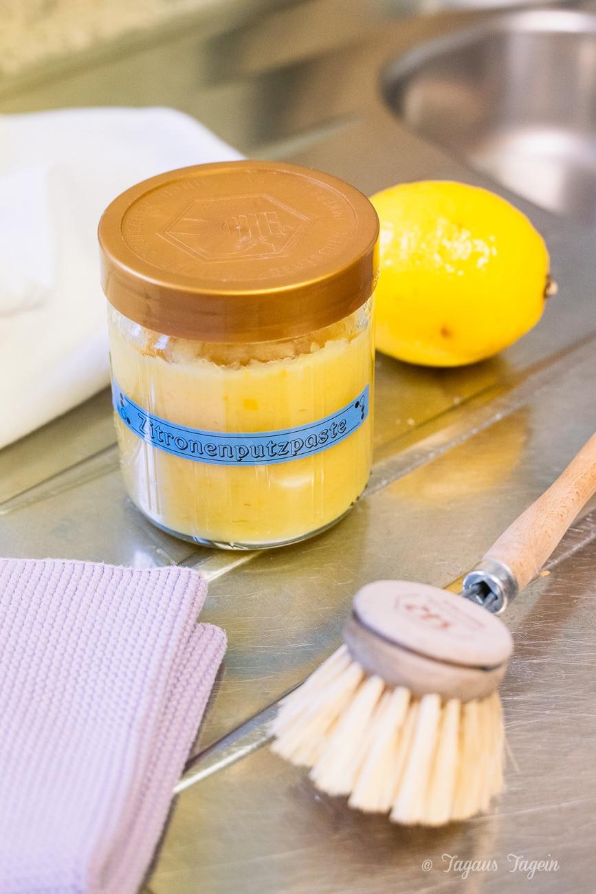 Putzmittel aus Zitronen - Zitronenputzpaste