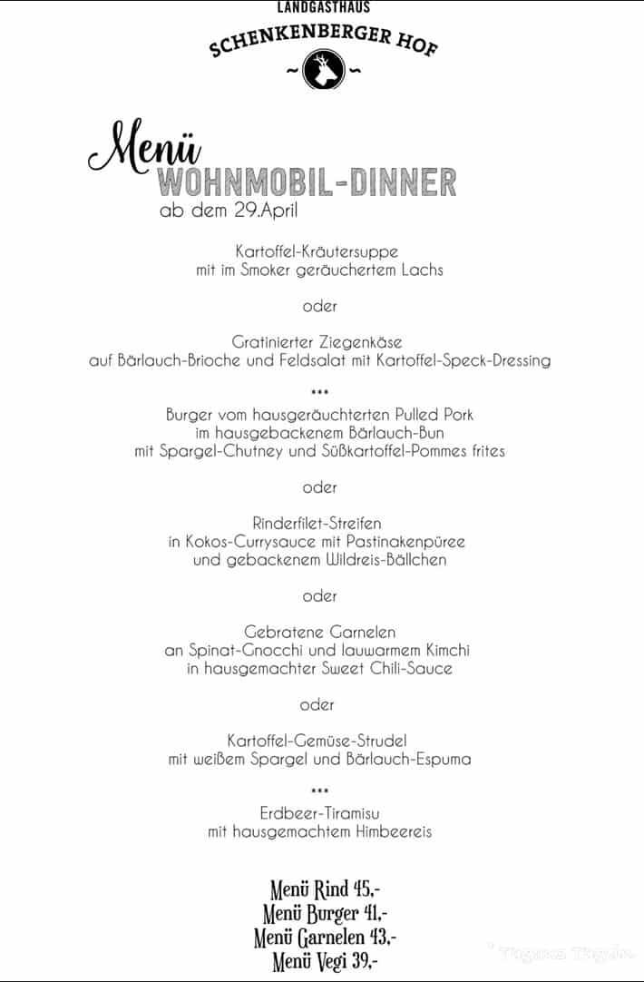 Wohnmobil-Dinner Schenkenberger Hof