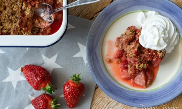 Schon wieder Erdbeeren? Ruck Zuck Erdbeer Crumble aus dem Thermomix®